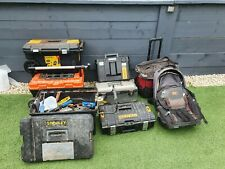 More details for joblot of stanley fatmax trolley toolboxs dewalt boxs  bags tools