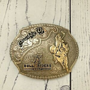 Montana Silversmiths Cowboy Up Belt Buckle Bull Riders Only Western Rodeo