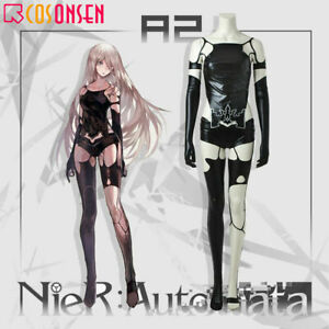NieR Automata A2 YoRHa Cosplay Costume Leather Full Suit