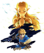 "Hot The Legend of Zelda Breath of the Wild New Game 2017 Art Silk 16""x14"" Poster"