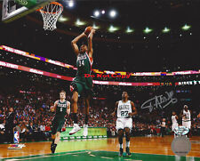 BUCKS Giannis Antetokounmpo signed 8x10 photo Reprint
