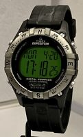 TIMEX Expedition Men's Digital Compass Wristwatch Indiglo Date Works Good Cond