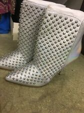 Gorgeous Silver Stud Boots By Diesel Leather
