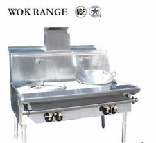 Five (5) Hole Burners Chinese Wok Range Nat Gas - NSF Approved - AGA Certified