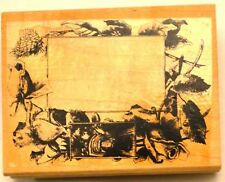 FLORAL FRAME Wood Mounted Rubber Stamp