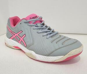 ASICS Gel Game Womens Runners Grey Netball Sports Shoes US10 EUR42 E755Y