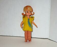 Vintage Hasbro 1965 Dolly Darlings Beth Doll - Molded Hair  Mod Outfit