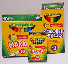 Crayola Kids Multi-Media Pack 24 Crayons 12 Pencils 10 Markers Art - New Cr03