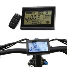 24/36/48V BICYCLE EBIKE LCD DISPLAY METER PANEL REMOTE CONTROL ODOMETER CHEERFUL