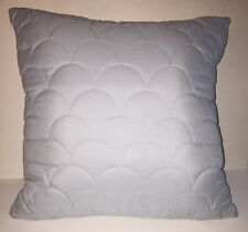 """Home Classics Decorative Bed Pillow Powder Blue Quilted Scalloped 16""""x16"""" Square"""