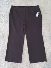 NWT New Women's Adrienne Vittadini Brown Plus Dress Pants Size 24W