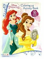 Disney Princess Coloring and Activity Book Over 30 Stickers Included for Kids