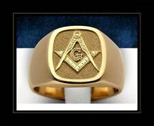 Hot Sale Mason Masonic No Stone Gold Plated Brass Men Custom Ring Size 11