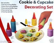 Cookie & Cupcake Decorating Set 16 Piece Cake Decorating Kit Pastry Birthday NEW