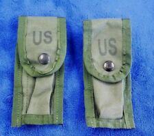 "(SET-2) ""NEW"" Military Ammunition Mag Pocket, OD Pistol Mag Pouch Alice Clip"