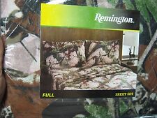 Remington Pink Camo Camouflage Bed Sheets & Pillowcase Set Full Size
