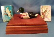 Vintage Mallard Duck Wood Box & 2 Sealed Decks of Cards 1980's - Price Products