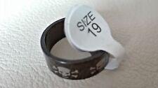 Edelstahl-Ring schwarz Totenkopf Größe 19 Fehlkauf NEU