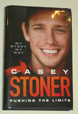 "Casey Stoner hand signed book ""Pushing the Limits"" +COA & Photo proof of signing"