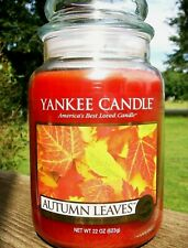 "Yankee Candle ""AUTUMN LEAVES"" ~ Fresh ~ Large 22 oz. ~ WHITE LABEL ~ NEW"