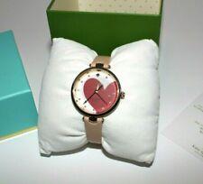 Kate Spade Holland Heart Vachetta Gold Plated Pink Leather Watch