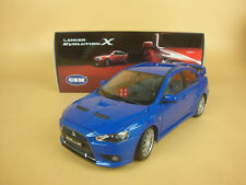 1/18 MITSUBISHI Lancer Evolution EVO-X blue color+gift