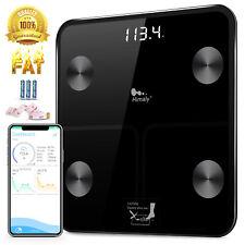 180KG BLUETOOTH BATHROOM SCALES BODY FAT DIGITAL MONITOR WEIGHING iOS, ANDROID