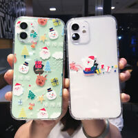 Cute Christmas Santa Claus Silicone Case Cover For iPhone 11 Pro Max XS XR X 8 7