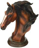 WILD STALLION HORSE BUST Western Figurine Statue Home Decor