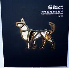 1 oz Lunar Jahr des Hundes - PP - color - Etui-Zertifikat