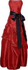 Prom Long Dress  Taffeta Strapless Red sz 3x XXXl Juniors girls Homecoming