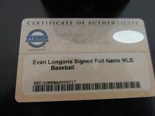 Evan Longoria Signed Full Name MLB Baseball