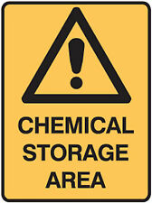 Fridge Magnet – Chemical Storage Area (Funny Warning Sign Comedy Caution Sign)