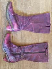 Dr Martens DMs Docs ladies pink mottled boots size 6
