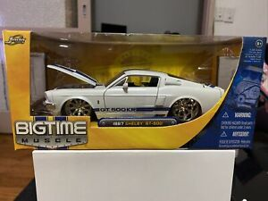 Jada Toys Dub City Bigtime Muscle 1:24 1967 Shelby Mustang GT-500 White