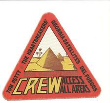 unused triangular tour pass TOM PETTY & THE HEARTBREAKERS ROCK N ROLL CARAVAN 87