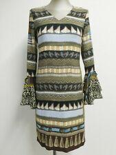 Lafty Lie sheath dress chiffon cuffs geometric/animal print multicolour S UK8/10