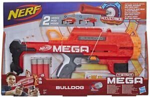 NEW OFFICIAL HASBRO NERF N-STRIKE MEGA BULLDOG SET BLASTER SHOOTER