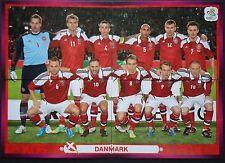 Panini 196 197 198 199 Team Danmark Dänemark EURO 2012 Poland - Ukraine