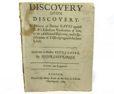 POPISH PLOT Discovery Upon Discovery by ROGER L'ESTRANGE First Edition