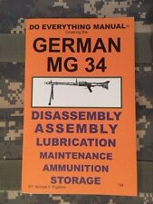 German MG 34 Do Everything Manual