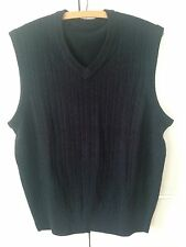 DOCKERS Sample Sweater Vest Navy Cableknit Size M New Sample