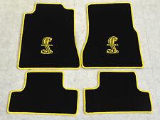 Autoteppich Fußmatten für Ford Mustang Cobra Shelby 2005-2012 schwarz gelb Neu