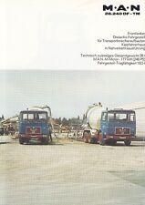 MAN M.A.N 26.240 DF TM 26 T LKW Nutzfahrzeug Prospekt Brochure 1982 /63