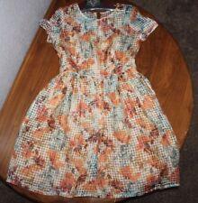 Women's  danny & nicole   see thru   Wonderland    floral   Dress  Size  8
