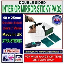 CAR INTERIOR REAR VIEW MIRROR STRONG ADHESIVE STICKY PADS x 4