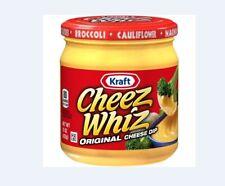 (2) cans of Kraft Cheez Whiz Original Cheese Dip 15 oz