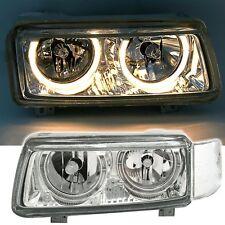 clear chrome finish ANGEL EYES HEADLIGHTS HALO SET for VW PASSAT 35i 93-96