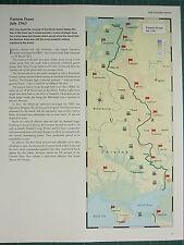 WW2 WWII MAP ~ EASTERN FRONT JULY 1943 ~ USSR UKRAINE ARMY GROUP NAZI