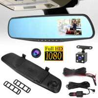 "HD 1080P 4.3 ""Auto DVR Rückspiegel Dual Lens Kamera Dash Cam Video Recorder New"